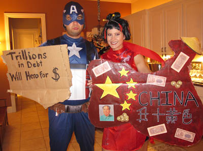 Pouty Captain America and China