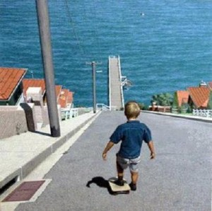 funny blog pic: skateboarding boy