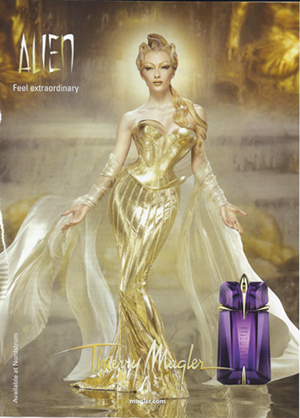 Thierry Mugler ad for Alien the perfume