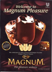 Magnum ice cream bar image on humor blog