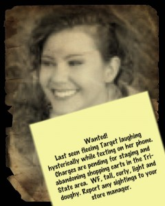 Wanted poster for Tall Curly Biscuit, humor blogger.